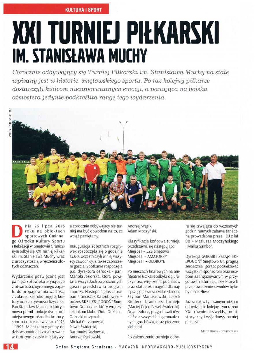 XXI Turniej piłkarski im. Stanisława Muchy