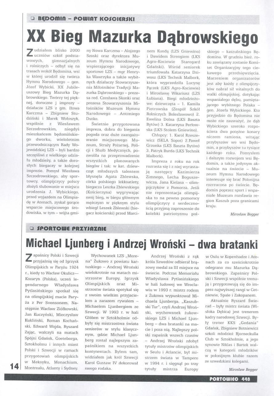 XX Bieg Mazurka Dąbrowskiego