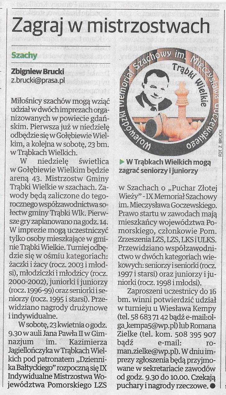 Echo Pruszcza 08.04.2016