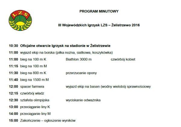 program minutowy