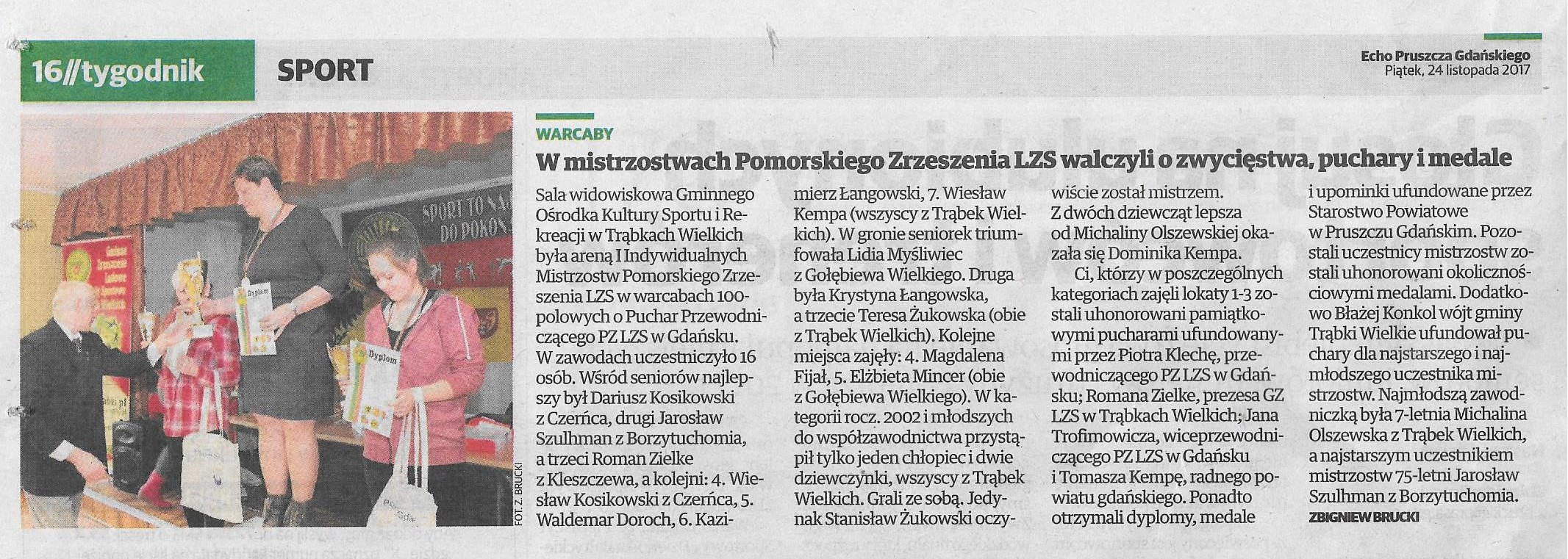 Echo Pruszcza Gdańskiego, 24.11.2017