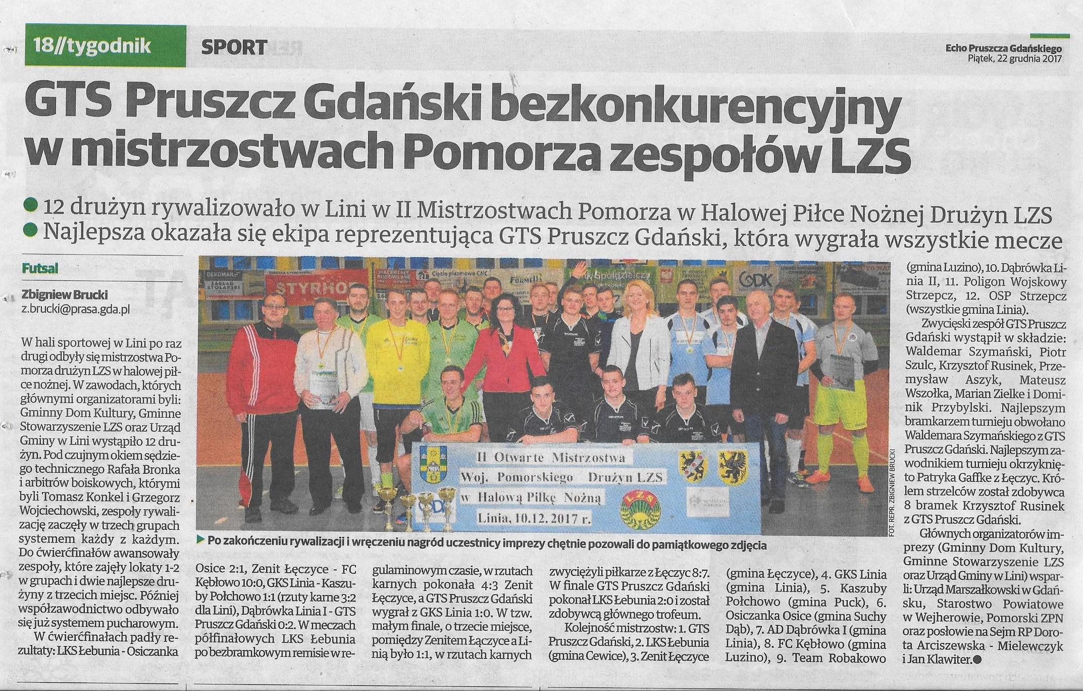Echo Pruszcza Gdańskiego, 22.12.2017